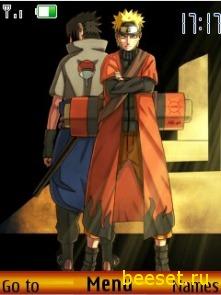 Тема для телефона Naruto And Sasuke
