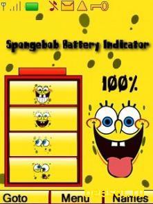 Тема для телефона Спанч батарея+новое меню