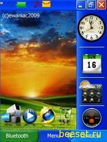 Тема для телефона Nokia XP Style + Погода + Часы + Зарядка + Календарь + Пуск