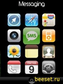Тема для телефона Меню на сони ериксон(iphone 3g)