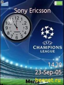 Тема для телефона Часы+Лига чемпионов