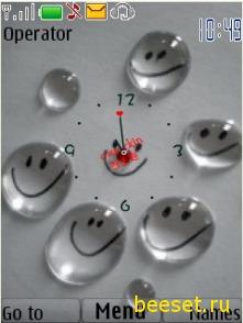 Тема для телефона Часы+Смайлики+Новое Меню