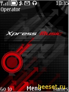 Тема для телефона Xpress music vector+новое меню