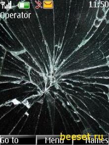 Тема для телефона Разбитый Экран+Новое Меню