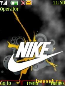 Тема для телефона Nike+new menu