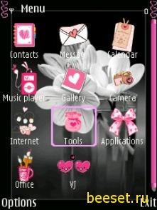 Тема для телефона Необычный цветок