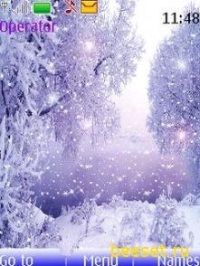 Тема для телефона Зима(анимация)