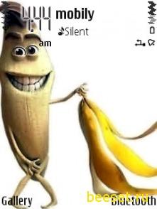 Тема для телефона Голый банан