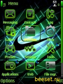 Тема для телефона Nike+новые walkman значки
