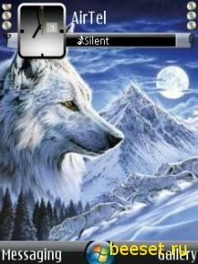 Тема для телефона Анимация новый волк