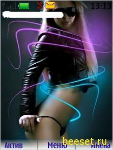 Тема для телефона Dance+новое супер меню+рингтон