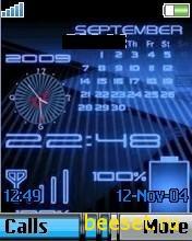 Тема для телефона Часы+календарь+антенна и батарея