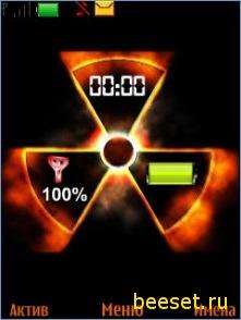 Тема для телефона Stalker+часы+сигнал+батарея+новое меню