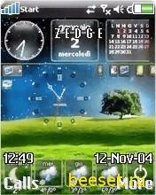 Тема для телефона Windows+часы+погода+новое меню