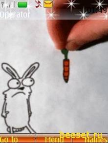 Тема для телефона Морковка