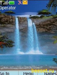 Тема для телефона Водопад с музыкой(анимация)