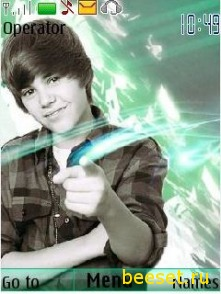 Тема для телефона Justin Bieber