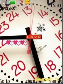Тема для телефона Love+часы+красивое меню