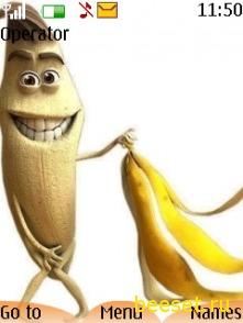 Тема для телефона Банан(анимация)