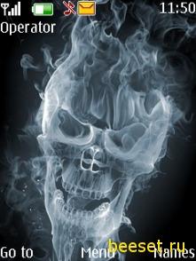 Тема для телефона Дымный череп
