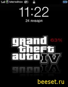 Тема для телефона IPhone Gta4
