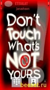 Тема для телефона Don`t Touch (новое меню)