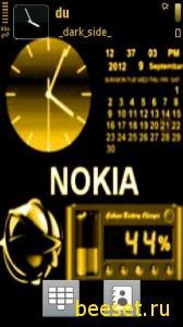 Тема для телефона Nokia (часы+календарь)