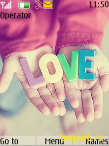 Тема для телефона Love + рингтон + новое меню
