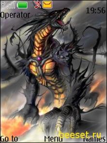 Тема для телефона Дракон + новое меню