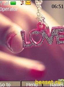 Тема для телефона Love + новое меню + рингтон