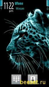Тема для телефона Neon Tiger