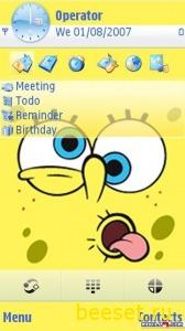 Тема для телефона Spongebob