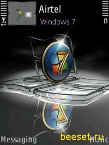 Тема для телефона Windows 7 + 3d иконки