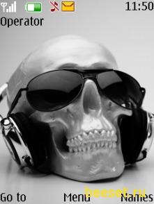 Тема для телефона Skull music