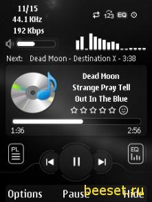 Тема для телефона Xpress Music Player+новое меню