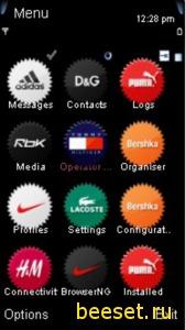 Тема для телефона Nike + новое меню