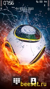 Тема для телефона Fire Football