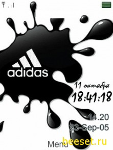 Тема для телефона Adidas + время + дата