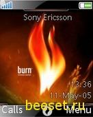 Тема для телефона Burn
