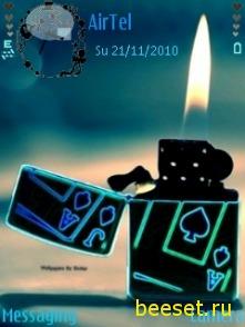 Тема для телефона Neon Zippo