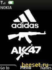 Тема для телефона Adidas+Ak-47