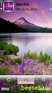 Тема для телефона Озеро и горы
