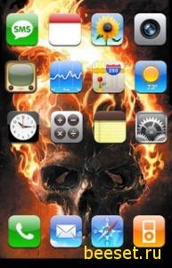 Тема для телефона Skull