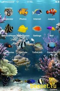 Тема для телефона Aquarium