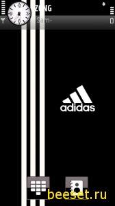 Тема для телефона Adidas