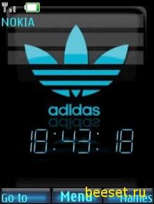 Тема для телефона Adidas + часы + новое меню