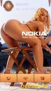 Тема для телефона Девушка и Nokia + рингтон