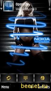 Тема для телефона Nokia+Girl