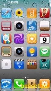 Тема для телефона Iphone menu