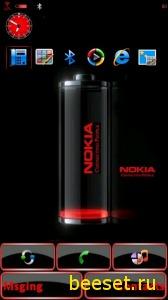 Тема для телефона Nokia Battery